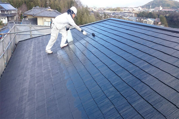 屋根塗装現場写真